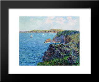 A Cove At Sevignies: Modern Black Framed Art Print by Gustave Loiseau