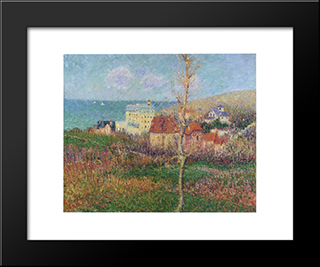 At The Coast Of Normandy: Modern Black Framed Art Print by Gustave Loiseau