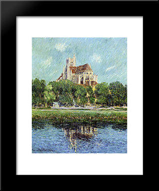 Auxerre Cathedral: Modern Black Framed Art Print by Gustave Loiseau
