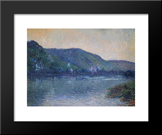 Boats On The Seine At Oissel: Modern Black Framed Art Print by Gustave Loiseau