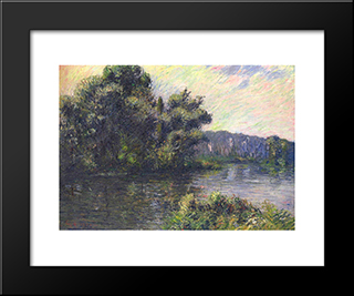 By The Eure River: Modern Black Framed Art Print by Gustave Loiseau