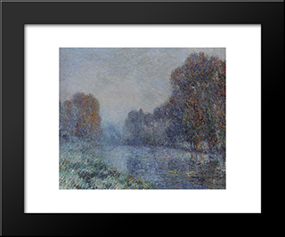By The Eure River Hoarfrost: Modern Black Framed Art Print by Gustave Loiseau