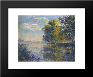 By The Eure River In Autumn: Modern Black Framed Art Print by Gustave Loiseau