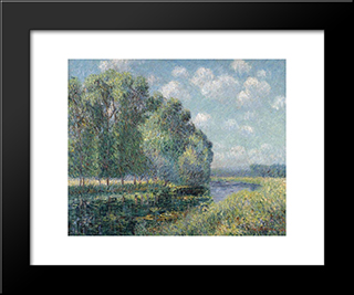 By The Eure River In Spring: Modern Black Framed Art Print by Gustave Loiseau