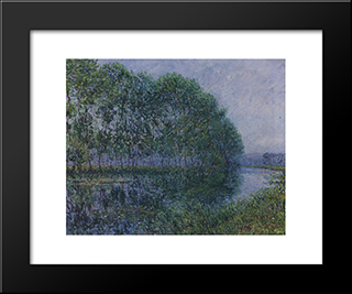By The Eure River In Summer: Modern Black Framed Art Print by Gustave Loiseau