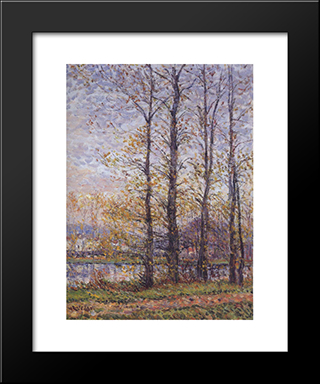 By The Oise At Precy: Modern Black Framed Art Print by Gustave Loiseau