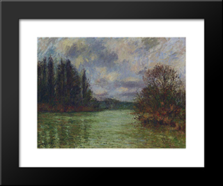 By The Oise River: Modern Black Framed Art Print by Gustave Loiseau