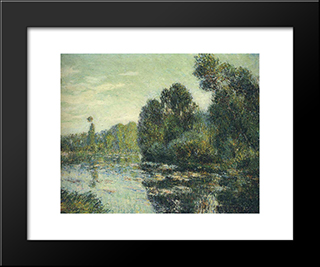 By The River Eure: Modern Black Framed Art Print by Gustave Loiseau