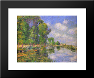 By The River In Autumn: Modern Black Framed Art Print by Gustave Loiseau