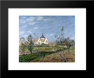 Church At Notre Dame At Vaudreuil: Modern Black Framed Art Print by Gustave Loiseau