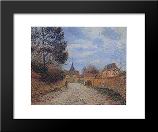 Church At Notre Dame By The Eure: Modern Black Framed Art Print by Gustave Loiseau