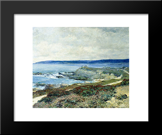 A Grey Day Carmel: Modern Black Framed Art Print by Guy Rose