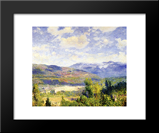 Arroyo Seco: Modern Black Framed Art Print by Guy Rose