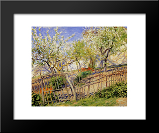 Blossoms And Wallflowers: Modern Black Framed Art Print by Guy Rose