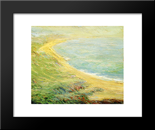 Bluff At Pourville: Modern Black Framed Art Print by Guy Rose