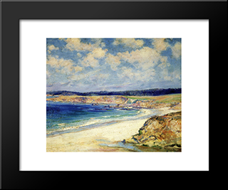 Carmel Beach: Modern Black Framed Art Print by Guy Rose