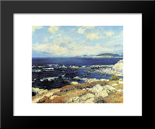 Carmel Coast: Modern Black Framed Art Print by Guy Rose