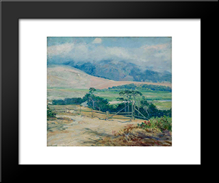 Carmel Hills: Modern Black Framed Art Print by Guy Rose