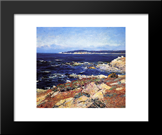 Carmel Seascape: Modern Black Framed Art Print by Guy Rose