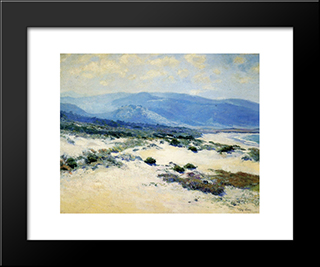Carmel Shore: Modern Black Framed Art Print by Guy Rose