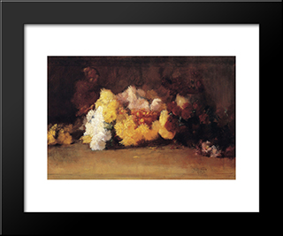 Chrysanthemums: Modern Black Framed Art Print by Guy Rose