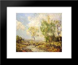 Country Landscape: Modern Black Framed Art Print by Guy Rose