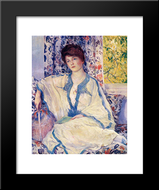 Early Morning - Summertime: Modern Black Framed Art Print by Guy Rose