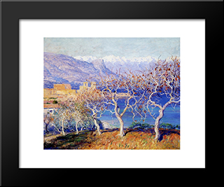 Fig Trees, Antibes: Modern Black Framed Art Print by Guy Rose