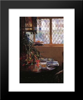 From The Dining Room Window: Modern Black Framed Art Print by Guy Rose