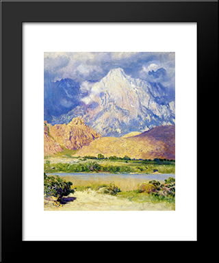 Gathering Storm, High Seas: Modern Black Framed Art Print by Guy Rose