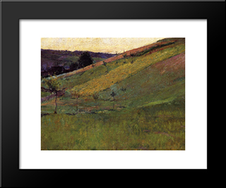 Giverny Hillside: Modern Black Framed Art Print by Guy Rose