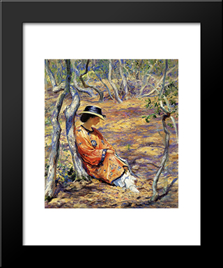 In The Oak Grove: Modern Black Framed Art Print by Guy Rose