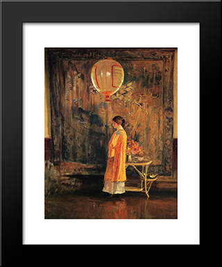 In The Studio: Modern Black Framed Art Print by Guy Rose