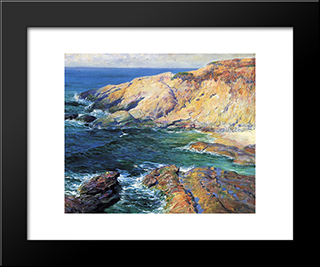 Incoming Tide: Modern Black Framed Art Print by Guy Rose