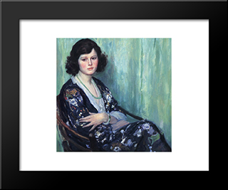 Jade Beads: Modern Black Framed Art Print by Guy Rose