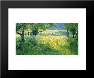 July Afternoon: Modern Black Framed Art Print by Guy Rose