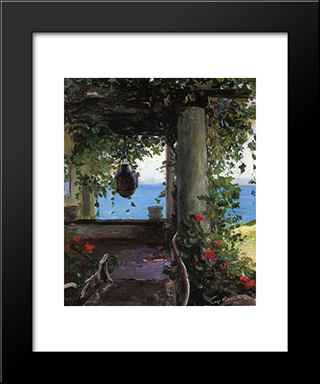 La Jolla Arbor: Modern Black Framed Art Print by Guy Rose