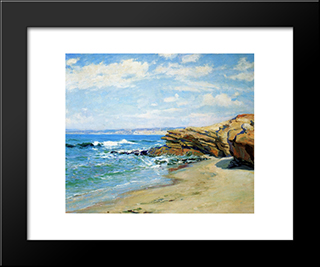 La Jolla Beach: Modern Black Framed Art Print by Guy Rose
