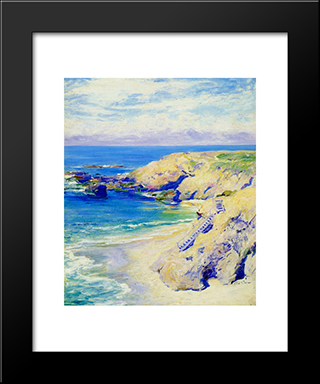 La Jolla Cove: Modern Black Framed Art Print by Guy Rose