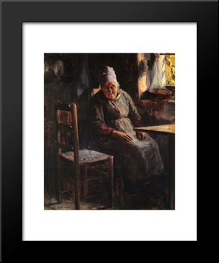 La Mere Pichaud: Modern Black Framed Art Print by Guy Rose