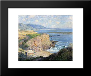 Laguna: Modern Black Framed Art Print by Guy Rose