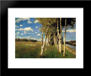 Eind Sommertag In Worpswede: Modern Black Framed Art Print by Hans am Ende