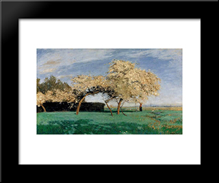Fruehlingstag: Modern Black Framed Art Print by Hans am Ende