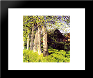 Fruhling In Worpswede: Modern Black Framed Art Print by Hans am Ende