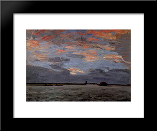 Torfkahne Auf Der Hamme: Modern Black Framed Art Print by Hans am Ende