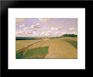 Weyerberg Under The Clouds: Modern Black Framed Art Print by Hans am Ende
