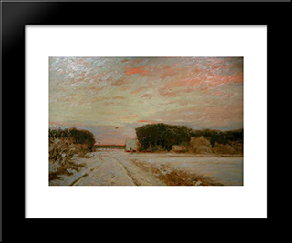 Winter In Worpswede: Modern Black Framed Art Print by Hans am Ende