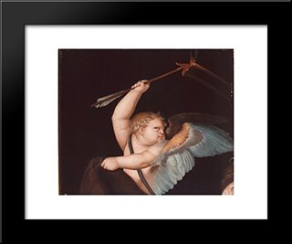 Amur: Modern Black Framed Art Print by Hans Baldung