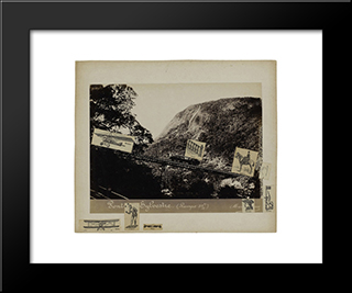 Castle Weibertreu: Modern Black Framed Art Print by Hans Baldung