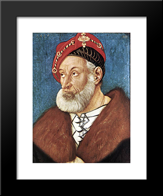 Count Christoph I Of Baden: Modern Black Framed Art Print by Hans Baldung